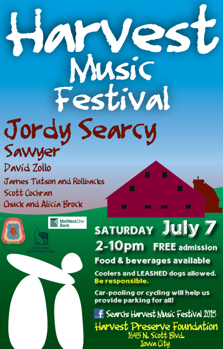 Festival poster targeted at a country audience profile