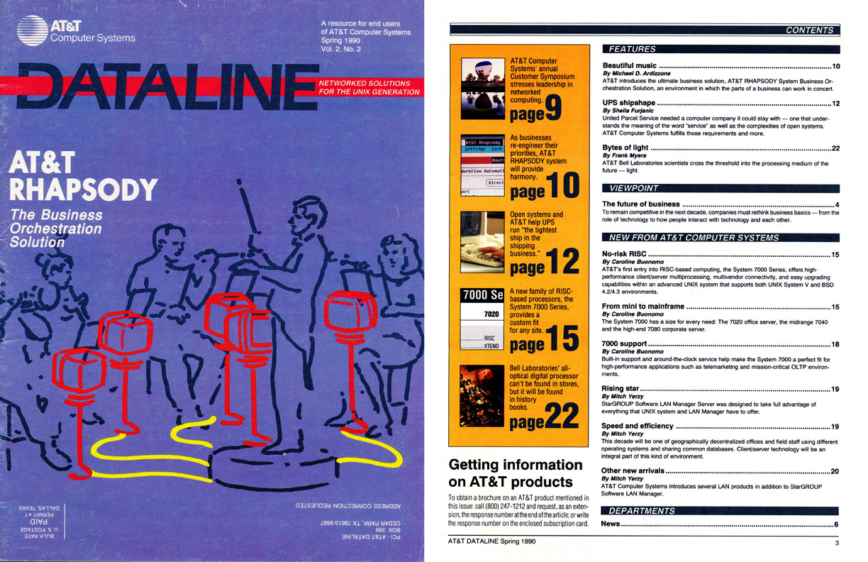 A magazine for users of AT&T's computer products, Dataline was a product of Publications & Communications Inc.